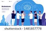 brainstorm concept.... | Shutterstock .eps vector #1481857778