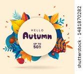 fall sale banner template.... | Shutterstock .eps vector #1481870282