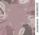 beautiful silk scarf pattern... | Shutterstock .eps vector #1481880155
