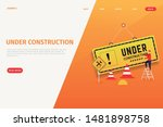 under construction landing page ...