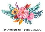 flower bouquet isolated... | Shutterstock . vector #1481925302