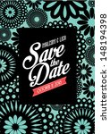 floral save the date invitation ... | Shutterstock .eps vector #148194398