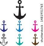 anchor icon on white background....