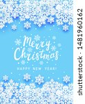 christmas greeting card with... | Shutterstock .eps vector #1481960162