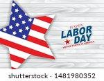 happy labor day vector... | Shutterstock .eps vector #1481980352