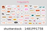 collection of weekly or daily... | Shutterstock .eps vector #1481991758
