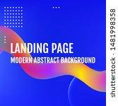 blue template for the design of ... | Shutterstock .eps vector #1481998358