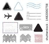 a vintage blank postal stamps... | Shutterstock .eps vector #1482000758
