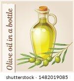 cartoon olive oil bottle... | Shutterstock .eps vector #1482019085