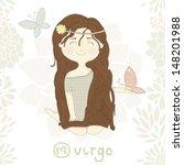 zodiac sign virgo. cute little... | Shutterstock .eps vector #148201988