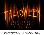 halloween font  letters and... | Shutterstock .eps vector #1482022562