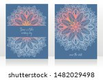 two cards for wedding party...   Shutterstock .eps vector #1482029498