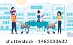 happy family shopping at... | Shutterstock .eps vector #1482033632