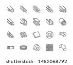 stainless steel flat line icons ... | Shutterstock .eps vector #1482068792