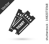 grey ticket icon isolated on... | Shutterstock .eps vector #1482073568