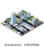 view of a city block to the... | Shutterstock .eps vector #148209686