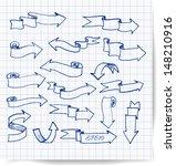 pen sketch arrows collection....   Shutterstock .eps vector #148210916