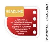headline sign. headliner paper... | Shutterstock .eps vector #1482125825