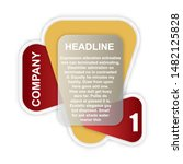 headline sign. headliner paper... | Shutterstock .eps vector #1482125828