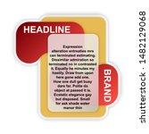 headline sign. headliner paper... | Shutterstock .eps vector #1482129068