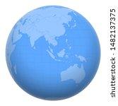singapore on the globe. earth...   Shutterstock .eps vector #1482137375