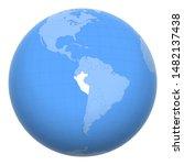 peru on the globe. earth...   Shutterstock .eps vector #1482137438