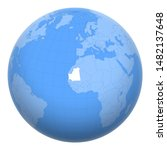 mauritania on the globe. earth...   Shutterstock .eps vector #1482137648