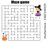 maze game for children.... | Shutterstock .eps vector #1482140435