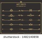 set of art deco gold... | Shutterstock .eps vector #1482140858