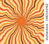 swirl twirl spiral 70s retro... | Shutterstock .eps vector #1482141962