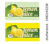fresh lemonade banner with... | Shutterstock .eps vector #1482142238