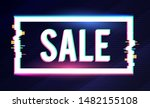 shining sale label with glitch... | Shutterstock .eps vector #1482155108