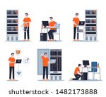 young male sysadmin set.... | Shutterstock .eps vector #1482173888
