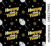 seamless christmas pattern ... | Shutterstock .eps vector #1482175442