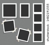 set of polaroid square frames... | Shutterstock .eps vector #1482191555
