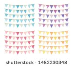 bunting  different colors  ... | Shutterstock .eps vector #1482230348