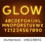 neon glowing yellow 3d letters... | Shutterstock .eps vector #1482238052