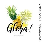 tropical vector design with... | Shutterstock .eps vector #1482238325