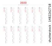 calendar 2020 vertical style.... | Shutterstock .eps vector #1482262718