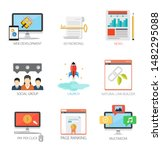 graphic design vector icons...   Shutterstock .eps vector #1482295088