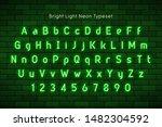 neon light 3d alphabet  extra... | Shutterstock .eps vector #1482304592