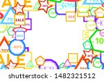 background with sale labels....   Shutterstock .eps vector #1482321512