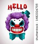 Creepy Clown Mask. Vector Angry ...