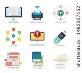 internet design vector icons...   Shutterstock .eps vector #1482327152