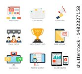 internet design vector icons...   Shutterstock .eps vector #1482327158