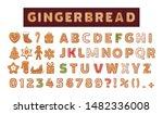 gingerbread holidays cookies... | Shutterstock .eps vector #1482336008