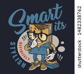 vintage education colorful... | Shutterstock .eps vector #1482338762