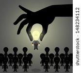 hand pick idea business man...   Shutterstock .eps vector #148234112