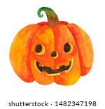 Hand Painted Watercolor Jack O...