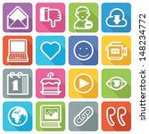 social media icons set 2   flat ... | Shutterstock .eps vector #148234772